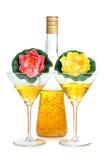 Flor y martini Imágenes de archivo libres de regalías