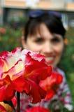 Flor y mujer Imagenes de archivo