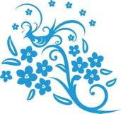 Flor y pájaro libre illustration