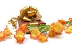 Flor y regalo Fotos de archivo