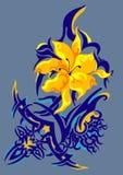 Flor y tatuaje Fotos de archivo