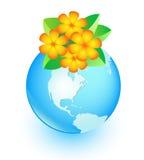 Flor y tierra Imagenes de archivo