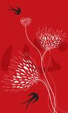 Flor y tragos en rojo Imagen de archivo libre de regalías