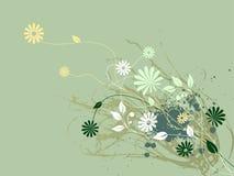 Flora astratta dell'arricciatura illustrazione vettoriale