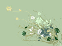 Flora astratta dell'arricciatura Fotografie Stock