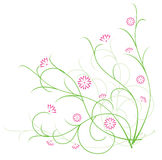 flora blommar illustrationredvektorn Arkivbilder