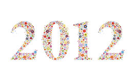 Flora calender year 2012 stock illustration