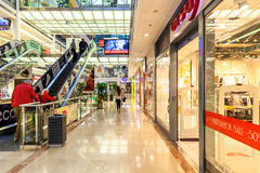 Flora commercial center interior view. Royalty Free Stock Images