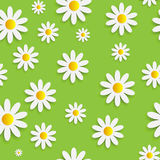 Flora Daisy Seamless Pattern Design Vector Photographie stock