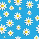 Flora Daisy Seamless Pattern Design Vector Images stock