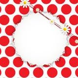 Flora Daisyl Design Vector Illustartion Arkivfoton