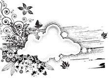Flora di Grunge Fotografie Stock