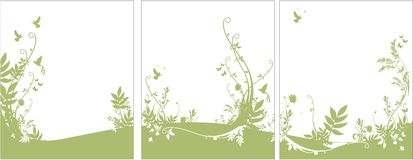 Flora e priorità bassa di fauna Immagine Stock Libera da Diritti