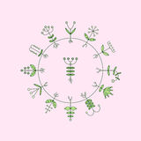 Flora Elements Eco Zeichen Auch im corel abgehobenen Betrag Stockfoto