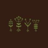 Flora Elements Segno di Eco Illustrazione di vettore Fotografie Stock