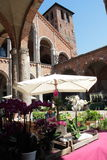 Flora et decora 2017. The Basilica of Sant`Ambrogio, in Milan, reopens its cloisters and gardens to flowers, greenery and everything that fascinates gardening Royalty Free Stock Photography