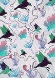Flora fauna pattern Stock Image