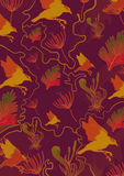 Flora fauna pattern. Pattern of flora and fauna Royalty Free Stock Photography