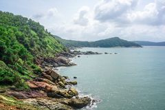 Flora and fauna of the tropical peninsula in the jungle. Gokarna Village, India stock images