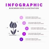 Flora, floreale, fiore, natura, fondo di presentazione di punti di Rose Solid Icon Infographics 5 royalty illustrazione gratis