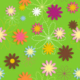 Flora Flower Seamless Pattern Design-Vector Royalty-vrije Stock Foto's
