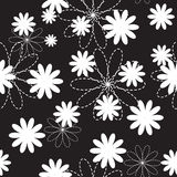 Flora Flower Seamless Pattern Design-Vector Royalty-vrije Stock Foto
