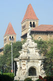 Flora fountain in front of colonial building, India Royalty Free Stock Image