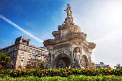 Flora Fountain in Mumbai Stockbild