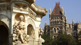 Flora fountain in Mumbai, India. On the photo:Flora fountain in Mumbai, India Stock Images
