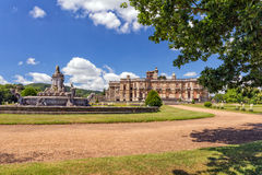 The Flora Fountain, Witley Court, Worcestershire, England. The Flora fountain at Witley Court on a sunny day Royalty Free Stock Photography