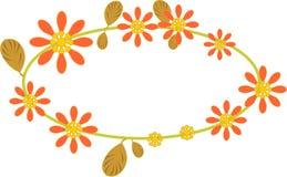 flora frame Stock Image