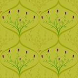 Flora-Grünblatt der Musterzusammenfassungsblume purpurrotes stock abbildung