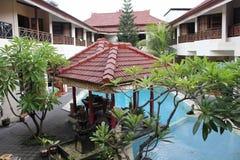 Flora Kuta Hotel i Bali Arkivbilder