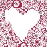 Flora love shape card Stock Images