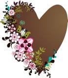 Flora love shape card Stock Photography