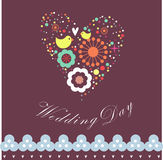 Flora love shape card Stock Photo