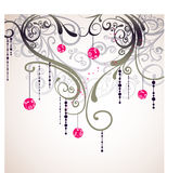 Flora love shape card Royalty Free Stock Photos