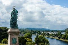 Flora MacDonald staty - Inverness, Skottland Royaltyfri Fotografi
