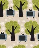 Flora- och TVvektormodell. Royaltyfri Bild