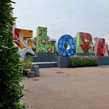 Flora ogród przy sztuka losem angeles ploen w Buriram Tajlandia Obraz Royalty Free