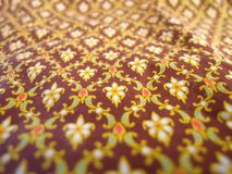 Flora pattern on Cloth. In retro style Royalty Free Stock Images