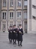 Guards at Prag castle Royalty Free Stock Photography