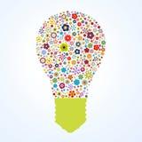 Flora pattern light bulb vector illustration