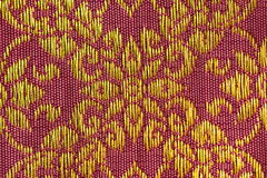 Flora Pattern Thai Silk Imagem de Stock Royalty Free