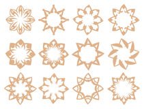 Flora Pattern Vector Design Elements dans la couleur douce de Brown illustration libre de droits