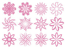 Flora Patterns Isolated Design Elements abstracta Imagen de archivo libre de regalías