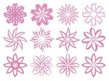 Flora Patterns Isolated Design Elements astratta Immagini Stock