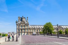 Flora pawilonu ot Pont i louvre Królewscy paris Zdjęcia Royalty Free
