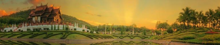 Flora Ratchaphruek Park real, Chiang Mai, Tailândia fotografia de stock royalty free