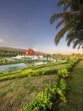 Flora Ratchaphruek Park real no por do sol Chiang Mai fotografia de stock